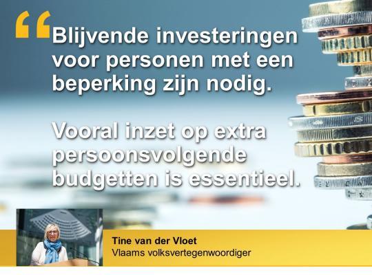 Tine van der Vloet blijvende investeringen personen met een beperking nodig