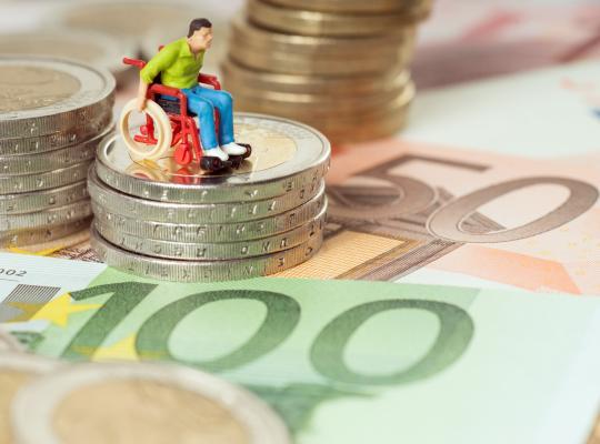 1,6 miljard euro voor personen met een handicap