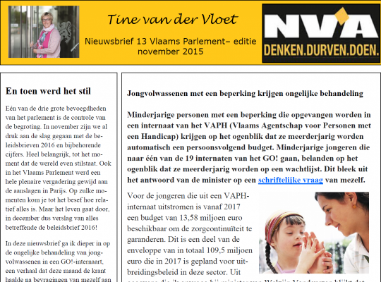 Tine van der Vloet nieuwsbrief 13