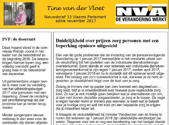 nieuwsbrief 33 Tine van der Vloet