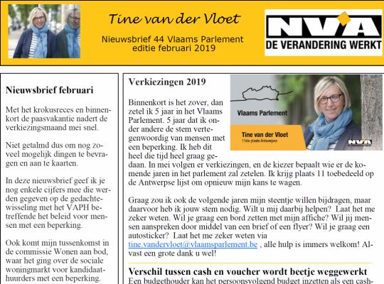 Nieuwsbrief 44 Tine van der Vloet